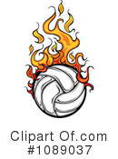 Royalty-Free (RF) Volleyball Clipart Illustration #1089037