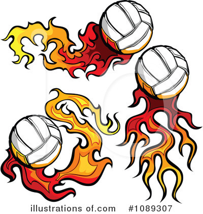Volleyball Clipart #1089307 by Chromaco