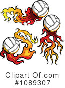 Royalty-Free (RF) Volleyball Clipart Illustration #1089307