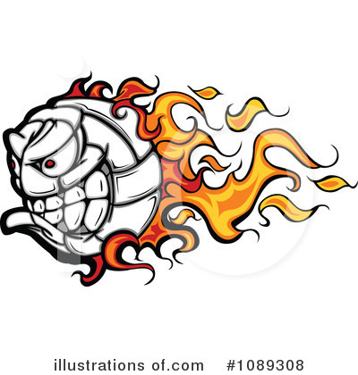 Volleyball Clipart #1089308 by Chromaco
