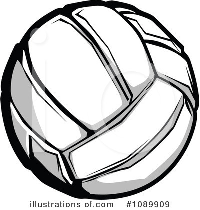 Volleyball Clipart #1089909 by Chromaco