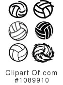 Royalty-Free (RF) Volleyball Clipart Illustration #1089910