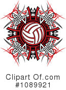 Royalty-Free (RF) Volleyball Clipart Illustration #1089921