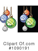 Royalty-Free (RF) Volleyball Clipart Illustration #1090191