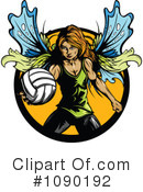 Royalty-Free (RF) Volleyball Clipart Illustration #1090192