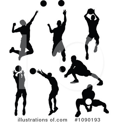 Volleyball Clipart #1090193 by Chromaco