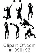 Royalty-Free (RF) Volleyball Clipart Illustration #1090193