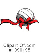 Royalty-Free (RF) Volleyball Clipart Illustration #1090195