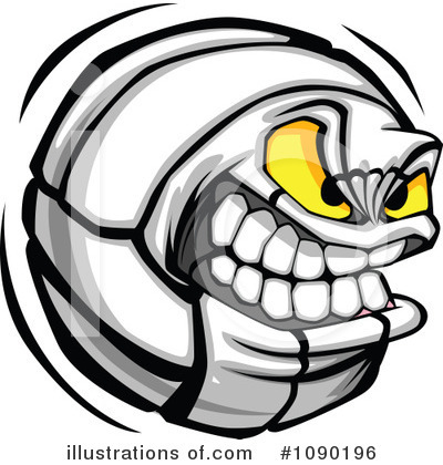 Volleyball Clipart #1090196 by Chromaco