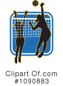 Royalty-Free (RF) Volleyball Clipart Illustration #1090883