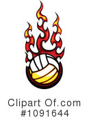 Royalty-Free (RF) Volleyball Clipart Illustration #1091644