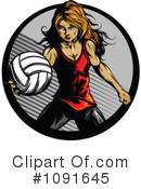 Royalty-Free (RF) Volleyball Clipart Illustration #1091645