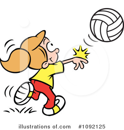 Volleyball Clipart #1092125 by Johnny Sajem