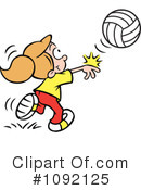 Royalty-Free (RF) Volleyball Clipart Illustration #1092125