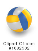 Royalty-Free (RF) Volleyball Clipart Illustration #1092902