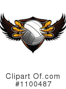 Royalty-Free (RF) Volleyball Clipart Illustration #1100487