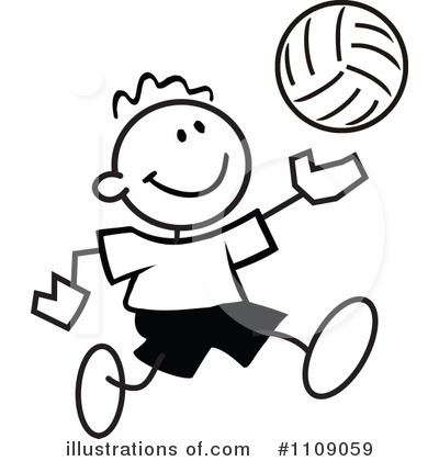 Volleyball Clipart #1109059 by Johnny Sajem