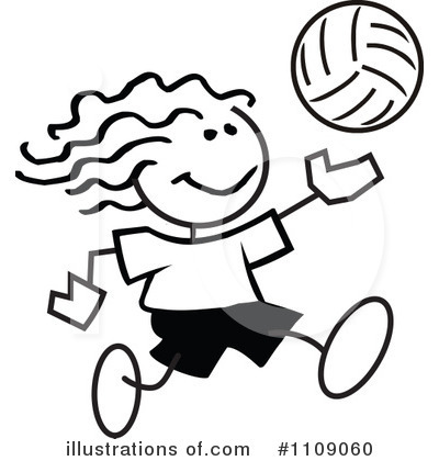 Volleyball Clipart #1109060 by Johnny Sajem