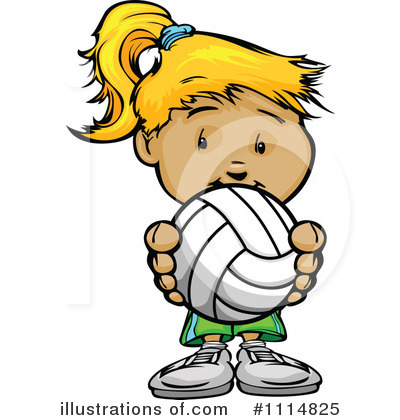 Volleyball Clipart #1114825 by Chromaco