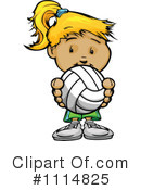 Royalty-Free (RF) Volleyball Clipart Illustration #1114825