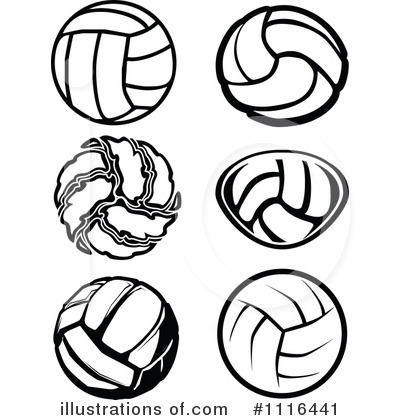 Volleyball Clipart #1116441 by Chromaco