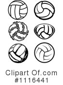 Royalty-Free (RF) Volleyball Clipart Illustration #1116441