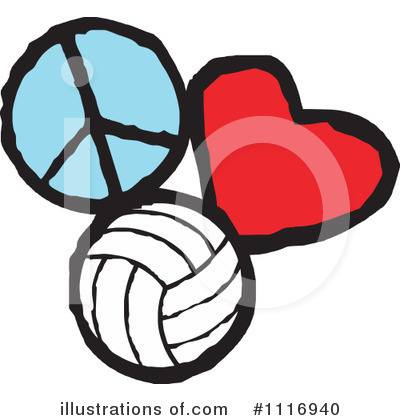 Volleyball Clipart #1116940 by Johnny Sajem