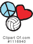 Royalty-Free (RF) Volleyball Clipart Illustration #1116940
