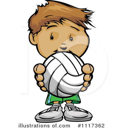 Volleyball Clipart #1117362 by Chromaco