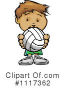 Royalty-Free (RF) Volleyball Clipart Illustration #1117362