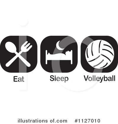 Volleyball Clipart #1127010 by Johnny Sajem