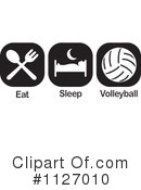 Royalty-Free (RF) Volleyball Clipart Illustration #1127010