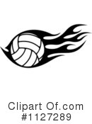 Royalty-Free (RF) Volleyball Clipart Illustration #1127289