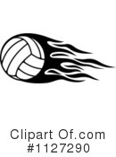 Royalty-Free (RF) Volleyball Clipart Illustration #1127290