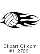 Royalty-Free (RF) Volleyball Clipart Illustration #1127291