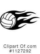 Royalty-Free (RF) Volleyball Clipart Illustration #1127292