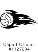 Royalty-Free (RF) Volleyball Clipart Illustration #1127294