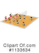 Royalty-Free (RF) Volleyball Clipart Illustration #1133634