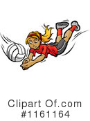 Royalty-Free (RF) Volleyball Clipart Illustration #1161164