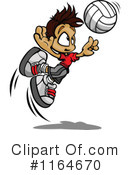 Royalty-Free (RF) Volleyball Clipart Illustration #1164670