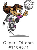 Royalty-Free (RF) Volleyball Clipart Illustration #1164671