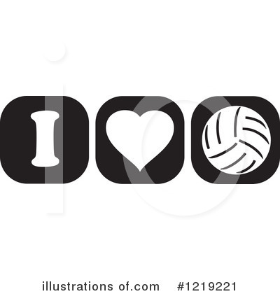 Volleyball Clipart #1219221 by Johnny Sajem
