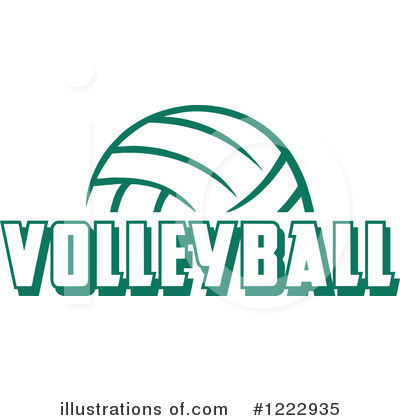 Volleyball Clipart #1222935 by Johnny Sajem