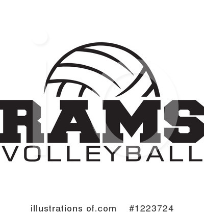 Volleyball Clipart #1223724 by Johnny Sajem