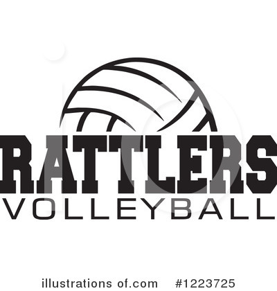 Volleyball Clipart #1223725 by Johnny Sajem