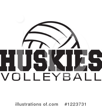 Volleyball Clipart #1223731 by Johnny Sajem
