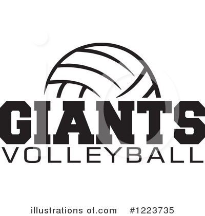 Volleyball Clipart #1223735 by Johnny Sajem