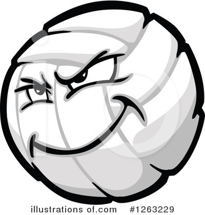Volleyball Clipart #1263229 by Chromaco