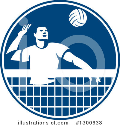 Volleyball Clipart #1300633 by patrimonio