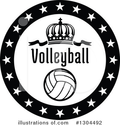 Volleyball Clipart #1304492 by Vector Tradition SM